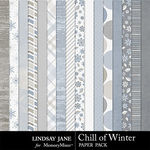Chill of Winter Paper Pack-$2.49 (Lindsay Jane)