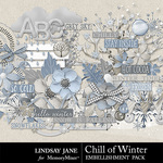Chill of Winter Embellishment Pack-$3.49 (Lindsay Jane)