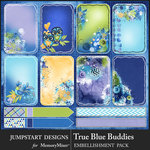 True Blue Buddies Journal Cards-$2.49 (Jumpstart Designs)