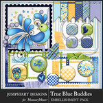 True Blue Buddies Stitches N Pieces Pack-$3.99 (Jumpstart Designs)