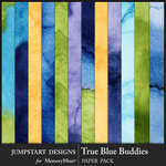 True Blue Buddies Water Color Paper Pack-$3.99 (Jumpstart Designs)