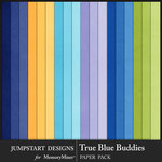 True Blue Buddies Plain Paper Pack-$3.99 (Jumpstart Designs)