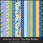 True Blue Buddies Pattern Paper Pack-$3.99 (Jumpstart Designs)