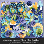 True Blue Buddies Embellishment Pack-$4.99 (Jumpstart Designs)