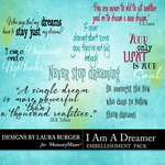 I Am A Dreamer WordArt Pack-$3.99 (Laura Burger)