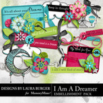 I Am A Dreamer Add On Embellishment Pack-$3.99 (Laura Burger)