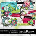 I Am A Dreamer Add On Embellishment Pack-$3.99 (Laura Burger)