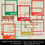 Her Story Photo Snap Frames-$1.99 (Karen Lewis)