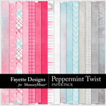Peppermint Twist Paper Pack-$4.49 (Fayette Designs)