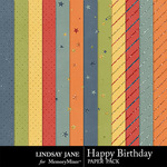 Happy Birthday LJ Glitter Paper Pack-$1.99 (Lindsay Jane)