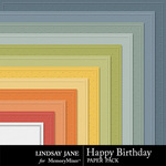 Happy Birthday LJ Embossed Paper Pack-$1.99 (Lindsay Jane)