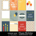 Happy Birthday LJ Journal Cards-$1.99 (Lindsay Jane)