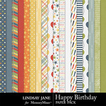 Happy Birthday LJ Paper Pack-$2.49 (Lindsay Jane)