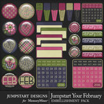 Jumpstart Your February Flairs Pack-$3.99 (Jumpstart Designs)
