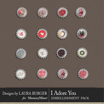 I Adore You Bottlecaps Pack-$2.10 (Laura Burger)