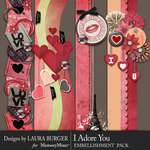 I Adore You Borders Pack-$3.50 (Laura Burger)