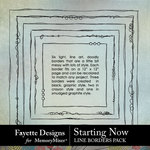 Starting Now Lineart Borders Pack-$1.75 (Fayette Designs)