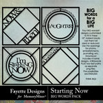 Starting Now Big Words Pack-$3.99 (Fayette Designs)