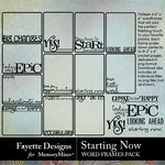 Starting Now Word Frames Pack-$2.80 (Fayette Designs)