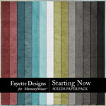 Starting Now Solids Paper Pack-$3.99 (Fayette Designs)