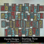 Starting Now Alphabet Pack-$2.99 (Fayette Designs)