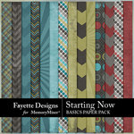 Starting Now Basics Paper Pack-$3.99 (Fayette Designs)