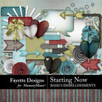 Starting Now Basics Embellishment Pack-$2.80 (Fayette Designs)