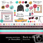 Back to the 50's Embellishment Pack-$3.00 (Melissa Nuttall)
