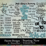 Starting Now WordArt Pack-$3.99 (Fayette Designs)