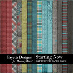 Starting Now Patterned Paper Pack-$4.49 (Fayette Designs)