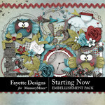 Starting Now Embellishments Pack-$3.14 (Fayette Designs)