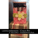 Crayon Box Embellishment Pack-$1.49 (Lasting Impressions)