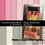 Hugs and Kisses w FREE Crayon Box Pattern-$2.45 (Lasting Impressions)