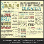The Definition of Character WordArt Pack-$3.99 (Jumpstart Designs)
