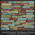The Definition of Character Word Strip Pack-$2.99 (Jumpstart Designs)