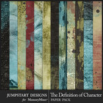 The Definition of Character Paper Art Pack-$3.99 (Jumpstart Designs)
