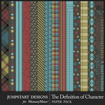 The Definition of Character Patterned Paper Pack-$2.80 (Jumpstart Designs)