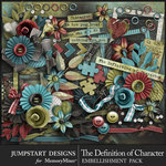 The Definition of Character Embellishment Pack-$4.19 (Jumpstart Designs)