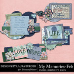 My Memories February Clusters Pack-$4.99 (Laura Burger)