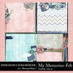 My Memories February Stacked Papers-$4.99 (Laura Burger)