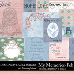 My Memories February Pocket Pieces-$4.99 (Laura Burger)