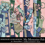My Memories February Borders Pack-$4.99 (Laura Burger)