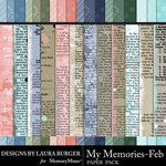 My Memories February Add On Papers-$3.99 (Laura Burger)