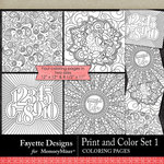 Print and Color Set 1-$4.50 (Fayette Designs)