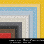 Under Construction LJ Embossed Paper Pack-$1.99 (Lindsay Jane)