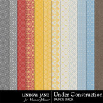 Under Construction LJ Pattern Paper Pack-$1.99 (Lindsay Jane)