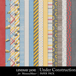 Under Construction LJ Paper Pack-$2.49 (Lindsay Jane)