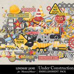 Under Construction LJ Embellishment Pack-$3.49 (Lindsay Jane)