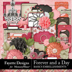 Forever and a Day Basics Embellishments-$3.99 (Fayette Designs)