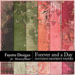 Forever and a Day Hotmess Misprint Papers-$3.99 (Fayette Designs)